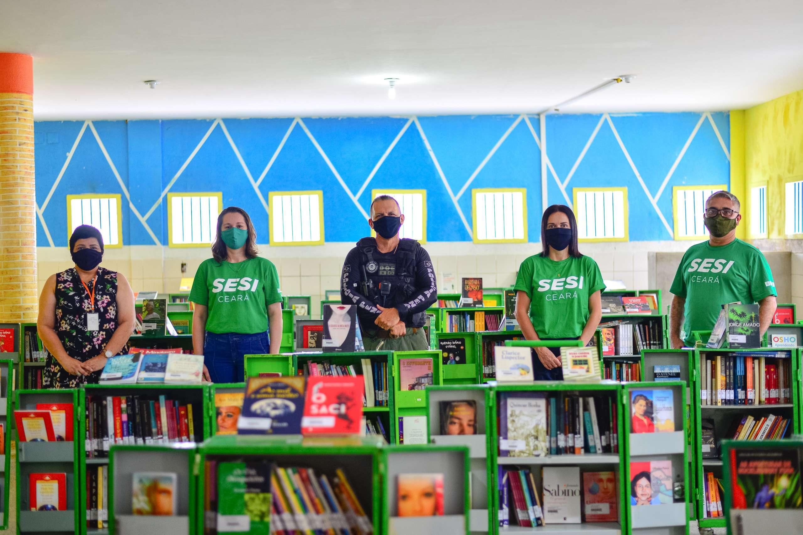 Projeto Livro Aberto recebe 5 mil livros para incentivar a leitura nas unidades prisionais cearenses
