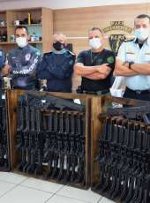 SAP realiza cessão de armamento de forte poder de fogo para a Polícia Militar do Estado do Ceará
