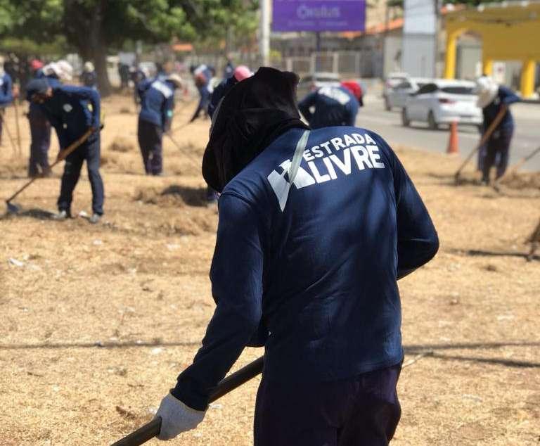 Egressos realizam limpeza de rodovias estaduais através do projeto Estrada Livre